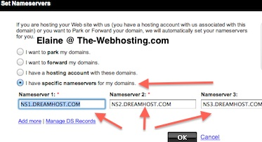 Godaddy Change NameServer - Set Nameservers