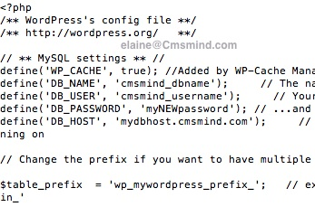 Dreamhost - Edit the WordPress wp-config.php file