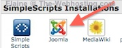 Bluehost Simple Scripts Installations - Joomla 2.5