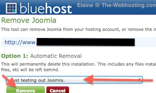 Bluehost Uninstall Joomla Reason