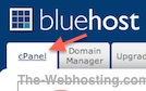Bluehost Click on Cpanel