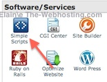 Bluehost Software/Services - click on Simple Scripts