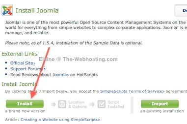 Bluehost - Install Joomla 2.5 Import Sample Data